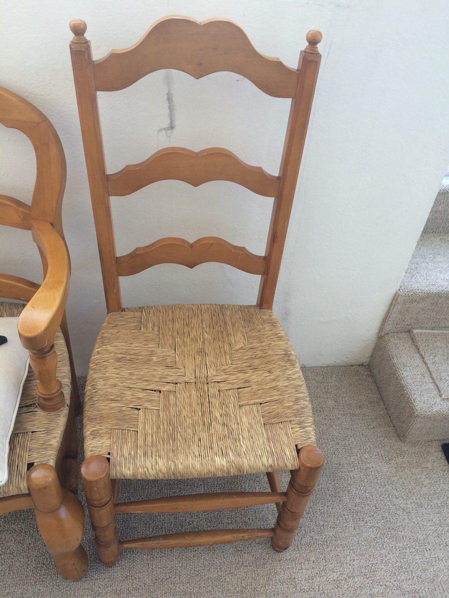 Silla de bejuco y madera 1 en mercado libre for Sillas altas de madera
