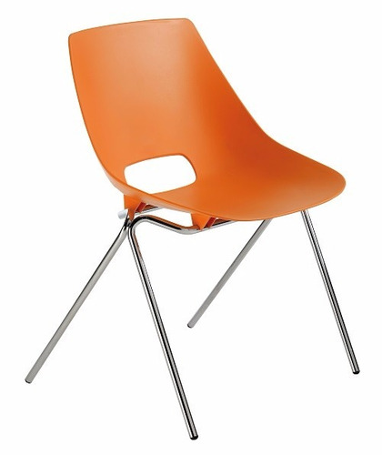 silla de cafetería para soda modelo kron color naranja