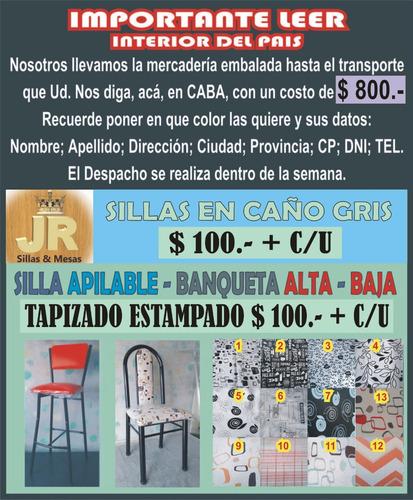 silla de caño koba - con tarjeta - promociones!