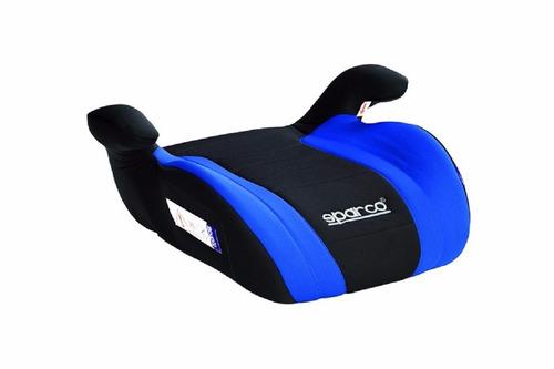 silla de carro booster azul-negro para niños sparco