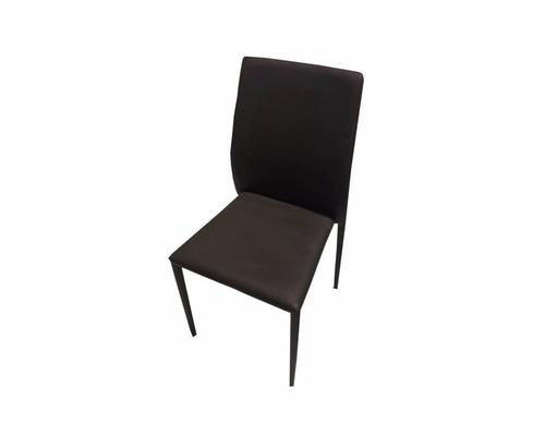 silla de comedor apilable tapizada en símil cuero