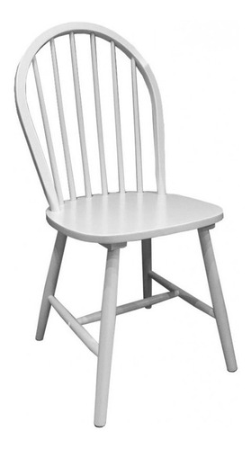 silla de comedor madera laqueada de diseño - windsor ovalada