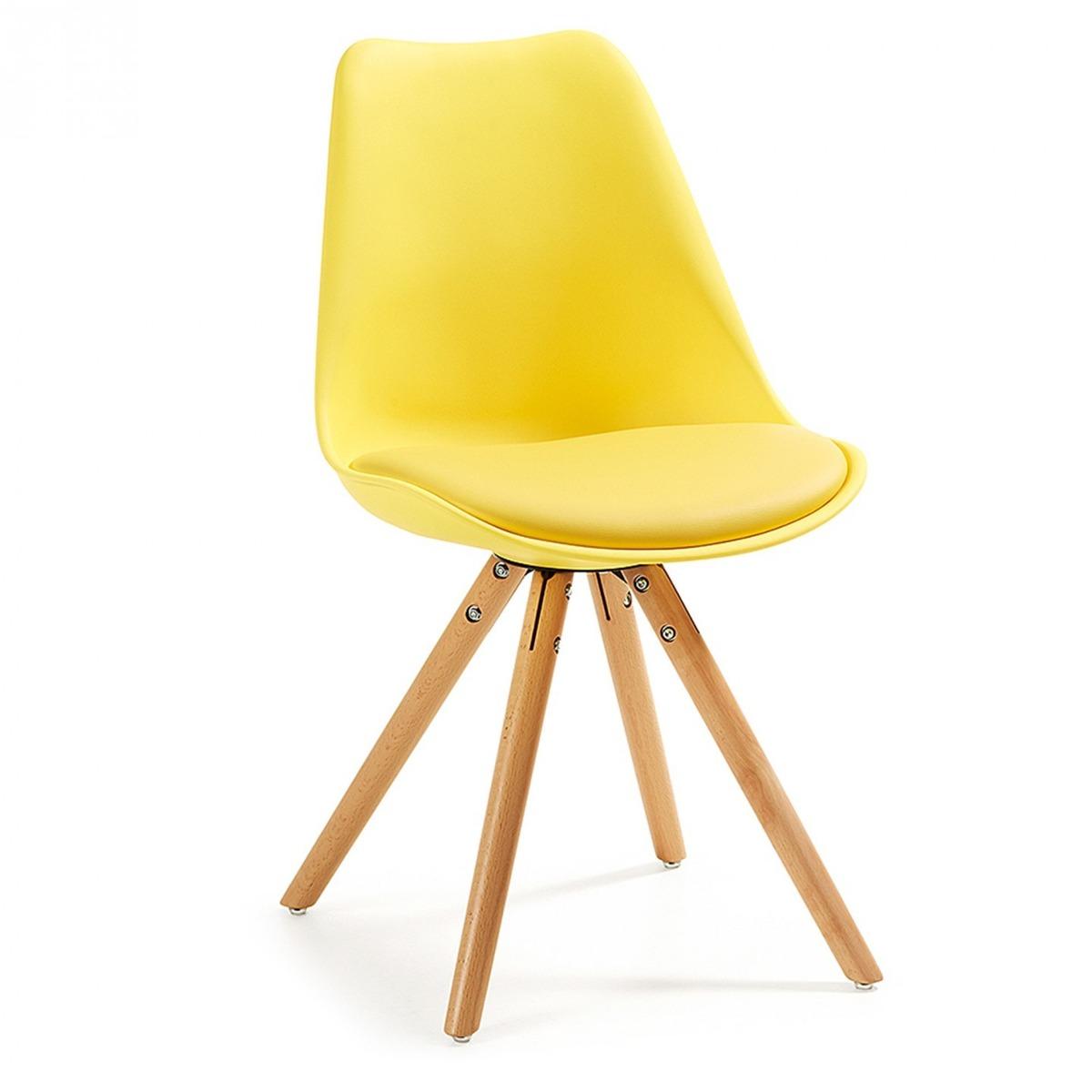 Silla de comedor moderna modelo ralf color amarillo for Sillas ergonomicas chile