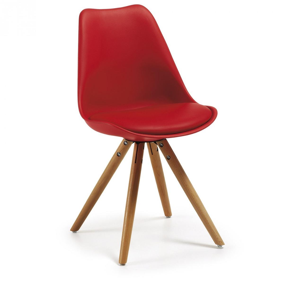 Silla De Comedor Moderna, Modelo Ralf, Color Rojo - $ 29.990 en ...