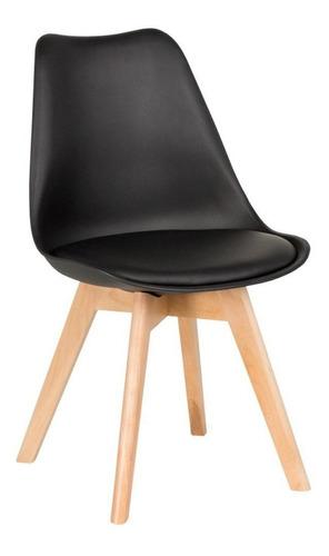 silla de comedor plástico de diseño eames pata madera - tulip x 4 sin interés