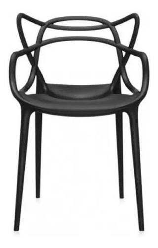 silla de comedor plástico diseño exterior apilable master x4