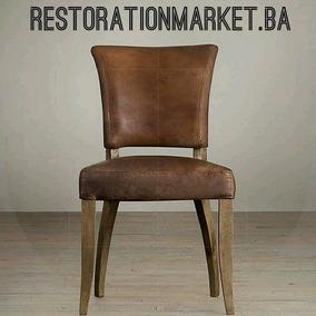 De Comedor Restoration Maciza Adele Cuero Madera Silla Rh c543RSAjLq