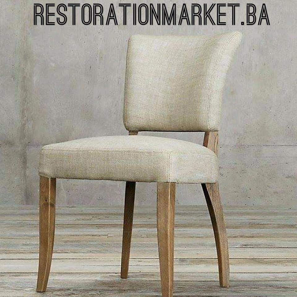 Adele De Comedor Restoration Lino Rh Madera Maciza Silla 0XO8Pknw