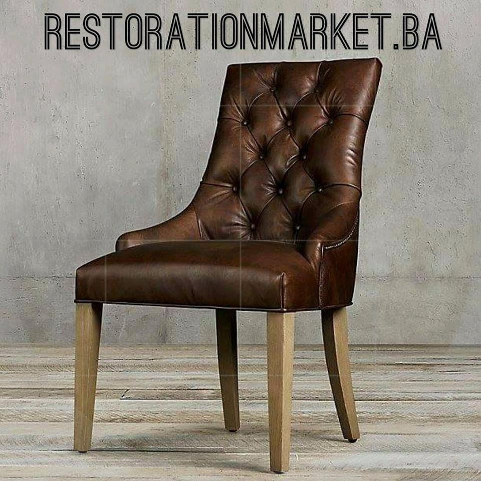 Restoration Martine De Comedor Yfgb6v7y Capitone Cuero Silla Madera tsxBrdhCoQ