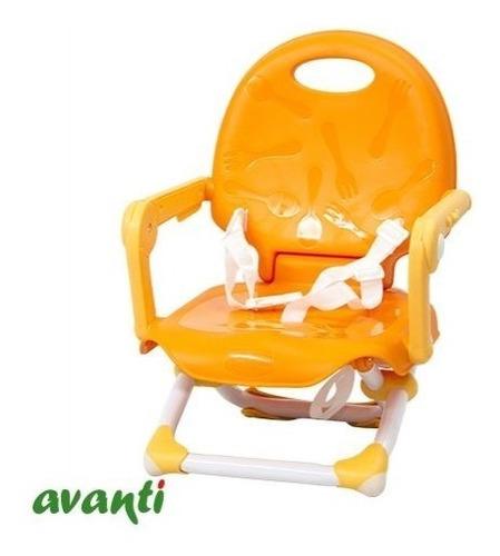 silla de comer bebe booster plegable avanti candy p/viajes