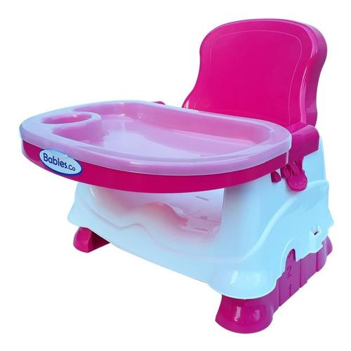 silla de comer bebe booster plegable portátil doble bandeja