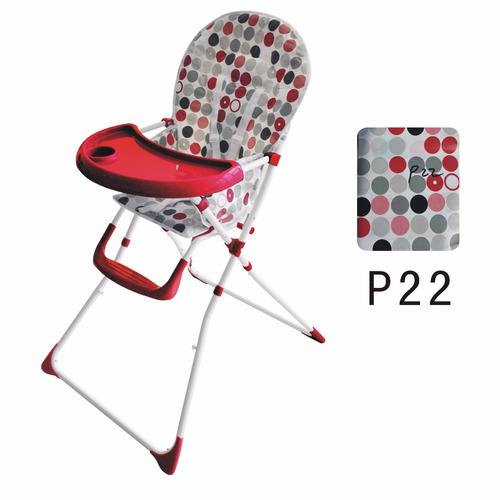 silla de comer bebe infanti con doble bandeja hc15