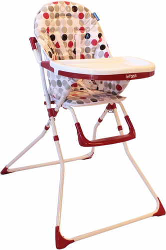 silla de comer bebe infanti hc15 doble bandeja rebatible