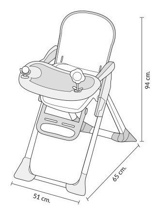 silla de comer carestino plus azul doble bandeja plegable