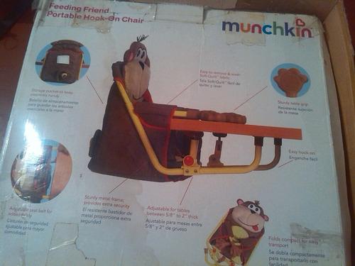 silla de comer importada  portátil marca munchkin