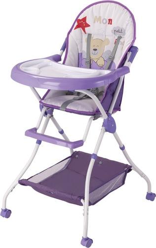 silla de comer para bebe con ruedas 100% plegable