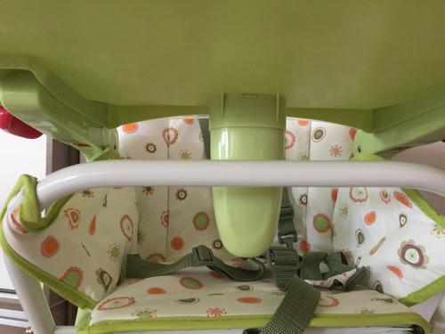 silla de comer para bebé plegble doble bandeja desmontable