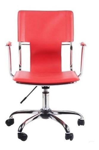 silla de computacion con apoyabrazos recta cromo ramos mejia