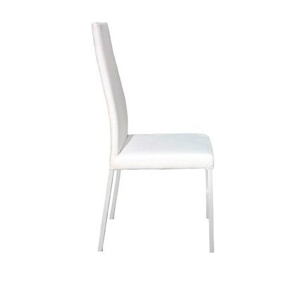 Silla de cuero blanco con respaldo reclinable extra comoda for Sillas comedor cuero blanco