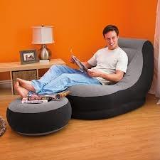 silla de descanso con puff inflable 99 x 130 x 76 cms
