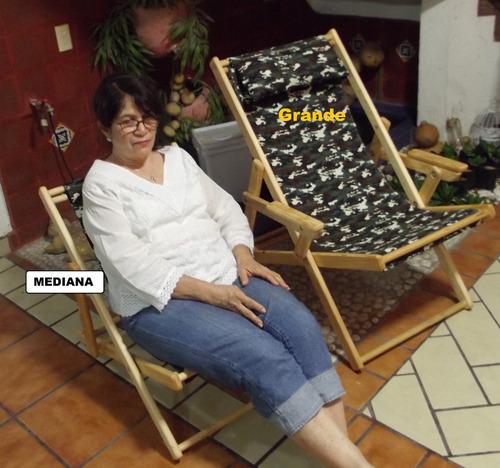 silla de descanso plegable grande con descansa brazos