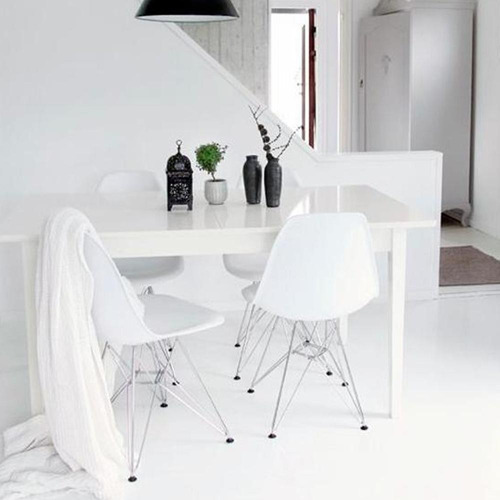 silla de diseño eames eiffel cromada