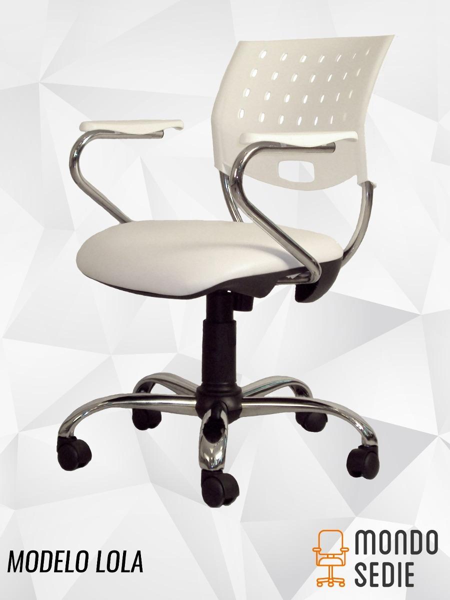 Silla De Diseño Giratoria Cromada Pc Oficina Blanca Negro - $ 3.800 ...