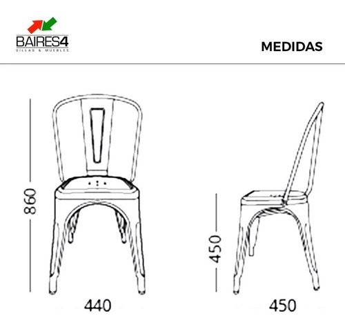 silla de diseño vintage tolix | contado