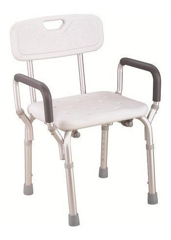 silla de ducha con apoya brazos merits