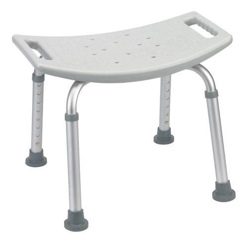 silla de ducha sin respaldo regulable de aluminio