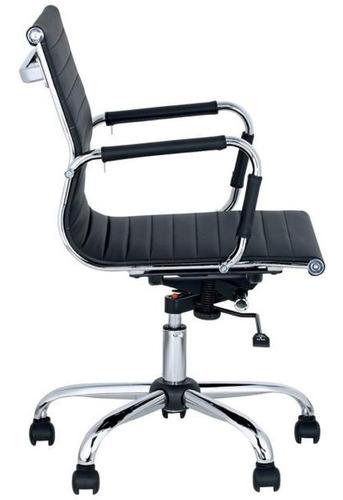 silla de escritorio aluminium respaldo bajo linea eames giratoria