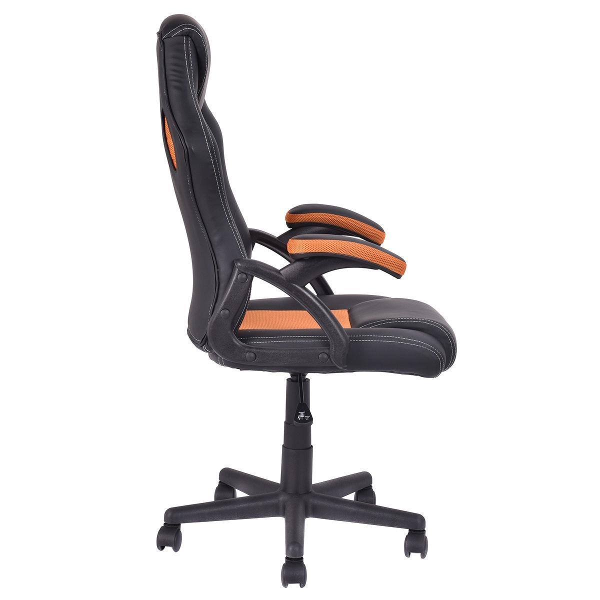 Silla de escritorio deportiva naranja asiento carro for Silla para ninos carro