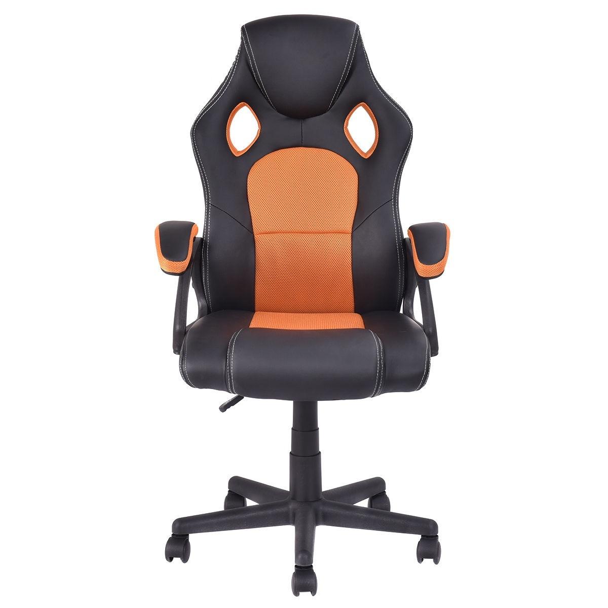 Silla de escritorio deportiva naranja asiento carro for Silla de oficina deportiva