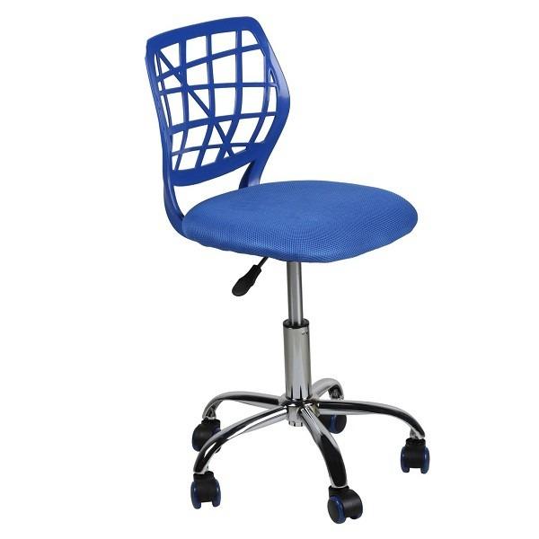 Silla de escritorio juvenil sin brazos azul asenti 179 for Precio silla escritorio
