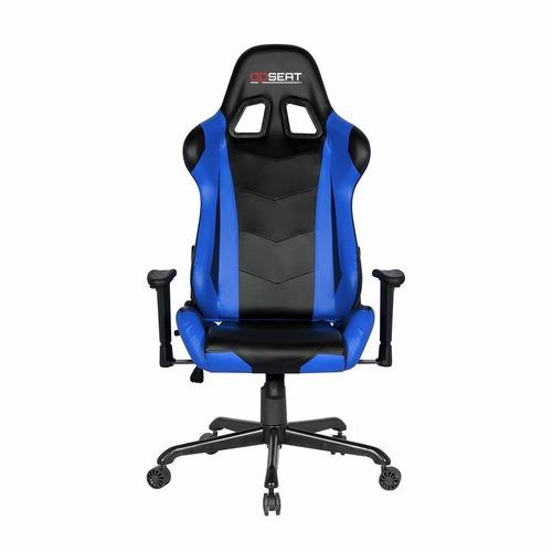 Silla de escritorio pc gamer opseat master azul 6 399 for Silla gamer oferta