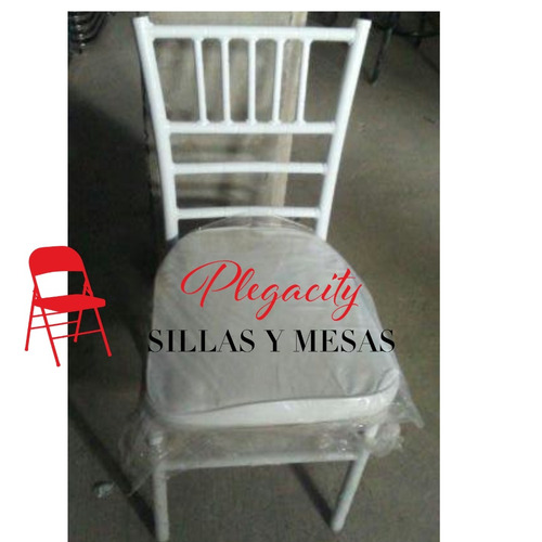 silla de gala tiffany apilable cojin desmontable