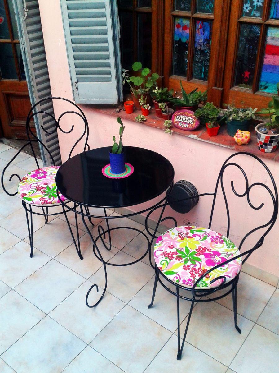 Silla De Hierro Apoyabrazos Estilo Vintage Jardin Balcon - $ 1.500 ...