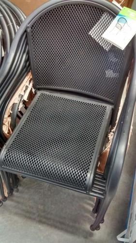 silla de hierro forjado importada 84 x 67 x 57 cms