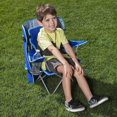 silla de jardin camping infantil azul con techo envio inmedi