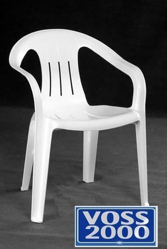 silla de jardin plastico aruba blanca voss 2000