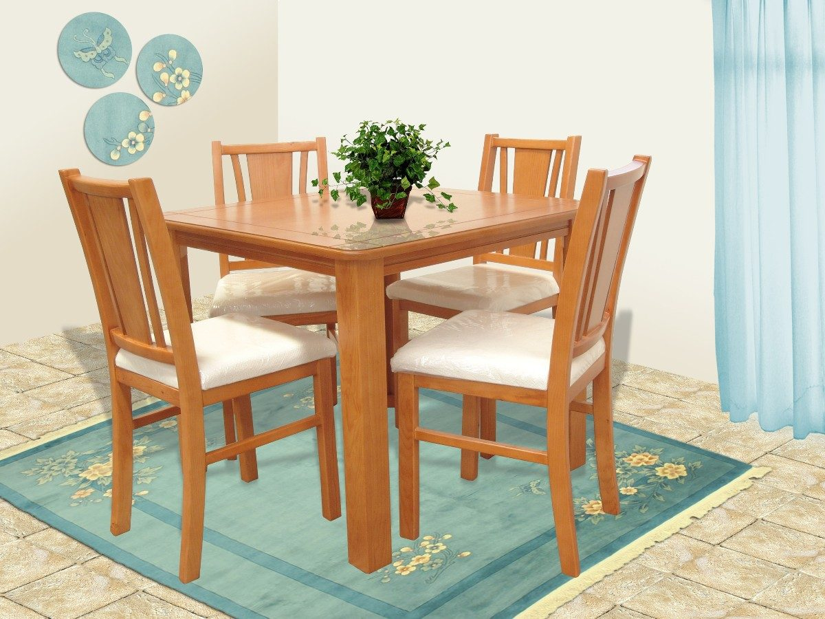 Silla de madera comedor muebles el angel 1 en for Muebles de comedor en madera