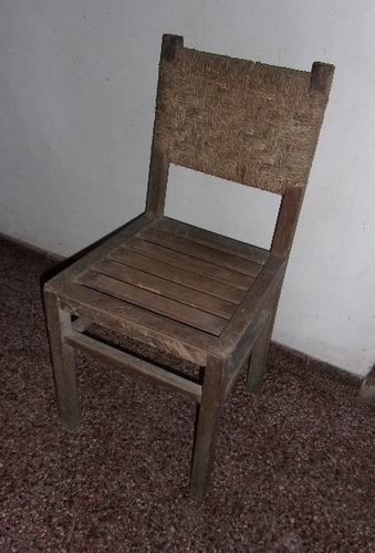 Silla de madera con respaldo tejido en cardo 500 00 en for Muebles maldonado precios