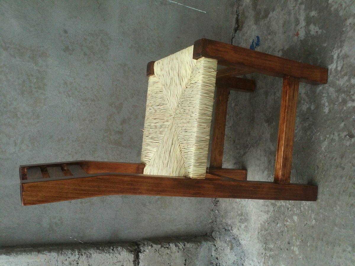 Silla de madera para restaurant en mercado libre for Precio zapateros de madera
