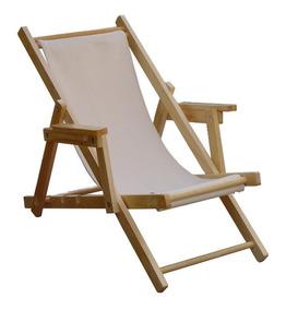 Madera Con Playa Plegable Brazo Descansa Silla De YeHIE29WD