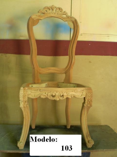 Silla de madera tallada estilo luis xv en crudo y en cedro for Sillas para quince