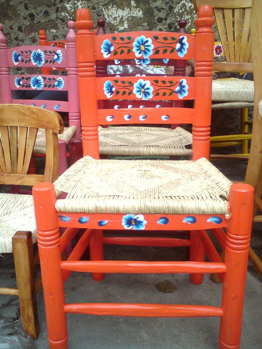 Silla de madera tejida en palma en mercado libre for Sillas madera colores