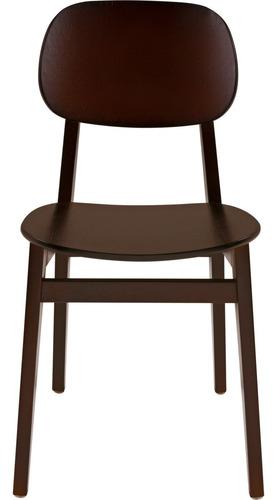 silla de madera tramontina london de tauarí tabaco sin brazo