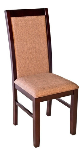 silla de madera y tapizada, muebles el angel