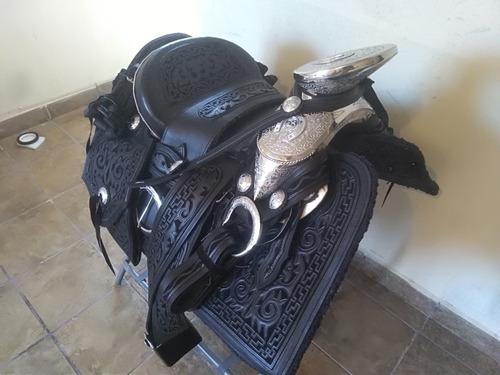 silla de montar, monturar charra,navajeada fuste acero y her