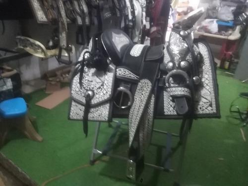 silla de montar,montura charra fuste 15 acero inox